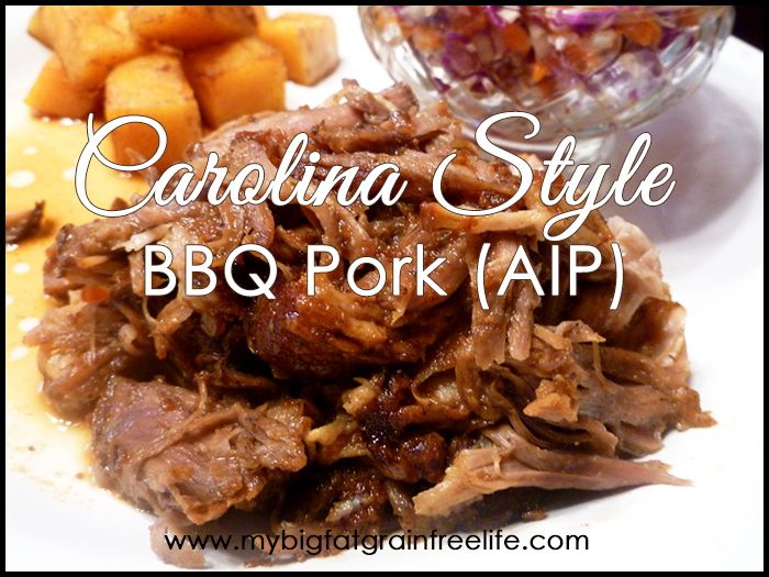 Carolina Style BBQ Pork (AIP, Paleo, GAPS, SCD)