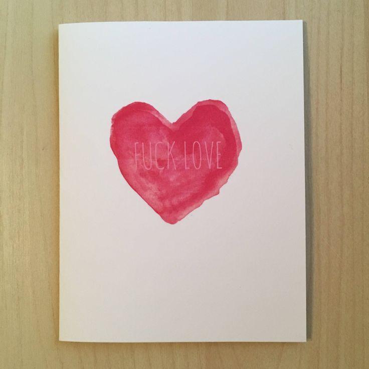 #vday #antivalentine #fu  https://www.etsy.com/ca/listing/585280241/f-love-vday-card
