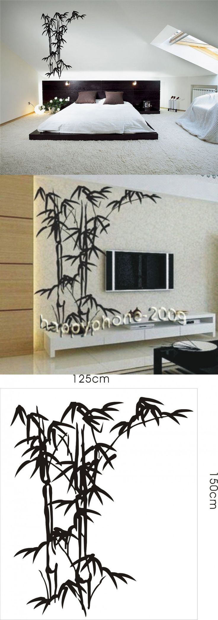 16 best muu sisustus images on pinterest wall stickers bedroom first fashion space bamboo mural home decor decals decorative removable craft wall stickers fashion125 150cm