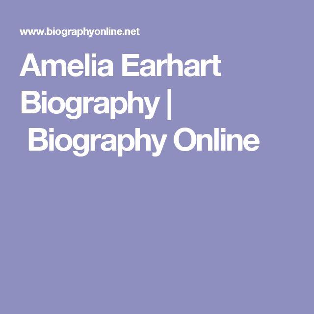 Amelia Earhart Biography | Biography Online