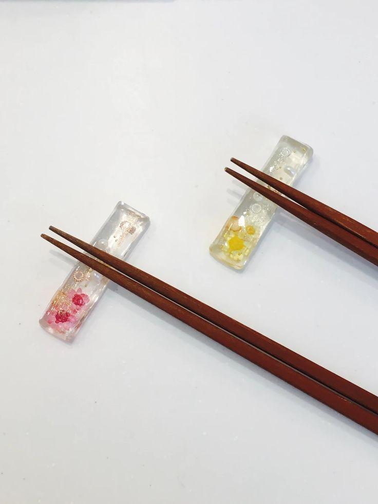 材料が揃えば簡単‼︎レジンで作る、春らしい箸置き