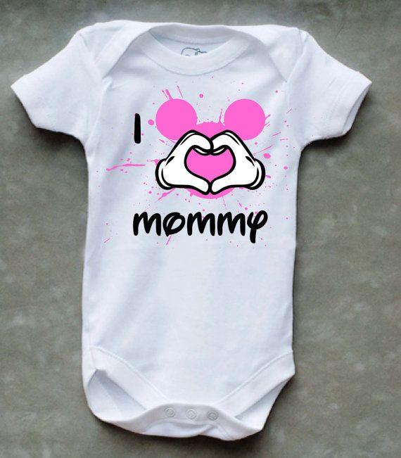 I love Mommy Onesie - Disney on Etsy, $13.99