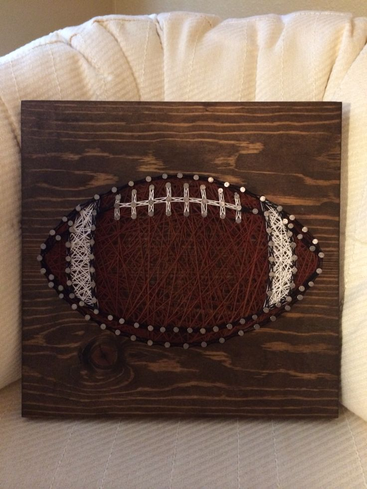 Football sports string art - Order from KiwiStrings on Etsy ( www.KiwiStrings.etsy.com )
