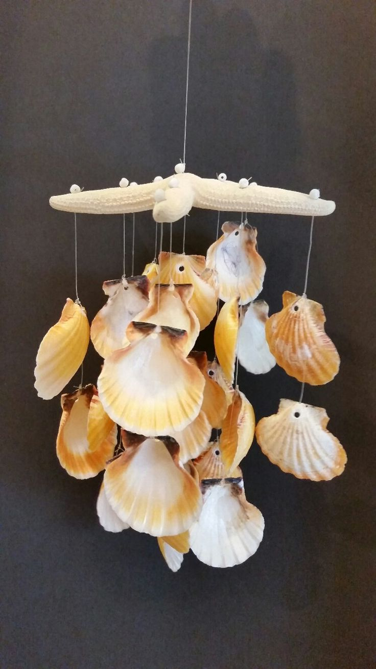 Starfish and Sea Shell Wind Chime, Starfish Wind Chime by SandyToeshomedecor on Etsy