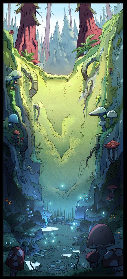 """Gravity Falls"" background art by Elle Michalka"