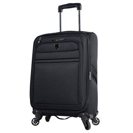 Navy Blue Travelers Club Laptop Carry On Hardside 4 Wheel Spinner