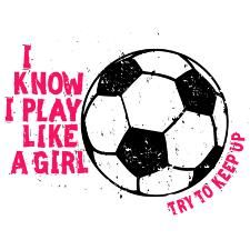 Our most popular soccer shirt. I Know I Play Like a Girl... Try to Keep Up! T-shirts, hoodies and merchandise. Girl Power at its best in this popular design featuring gritty fonts and a distressed soccer ball. Black or Pink artwork. Available at Try2KeepUp.com. #PlayLikeAGirl #PlaySportsLikeAGirl #TryToKeepUp