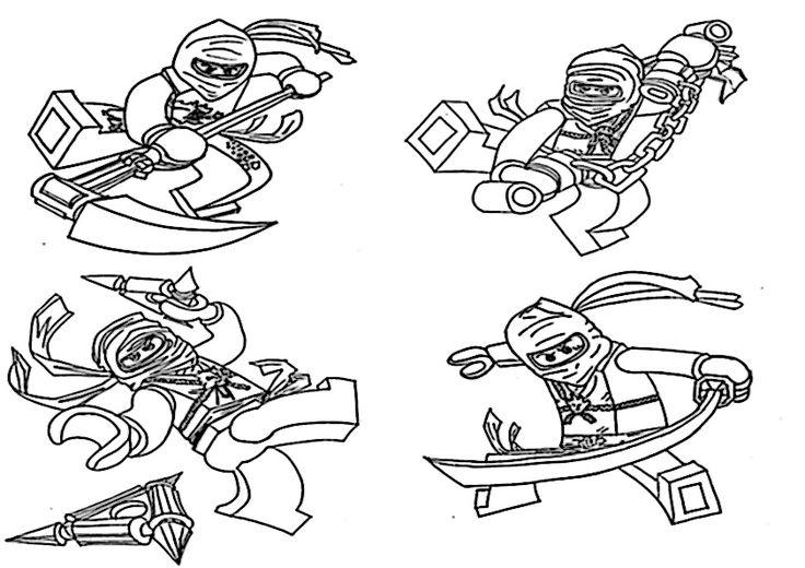 ninjago ausmalbilder zum ausdrucken mit bildern