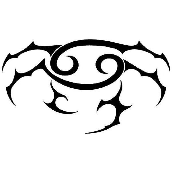 Cancer Zodiac Symbol Tattoo Designs