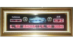 Tipe GOLD R (100 x 40 cm) Jadwal Running Text Frame Fiber Lampu Background Berat Paket 14 Kg Rp.3.290.000,-  http://jamdigitalmasjid.id