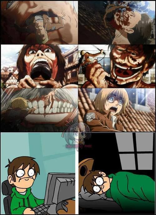 Attack on Titan..  I'm so glad I started watching it when there were more episodes...
