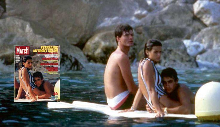 Eté 1984. Stéphanie de Monaco et Anthony Delon