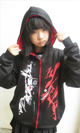 Naruto Fox Kyubi Nine Tail Hoodie Jacket