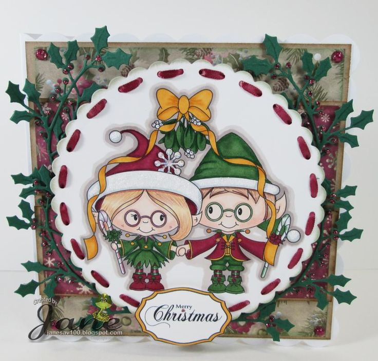 Mistletoe Marci & Bertie from www.digitaldelightsbyloubyloo.com: