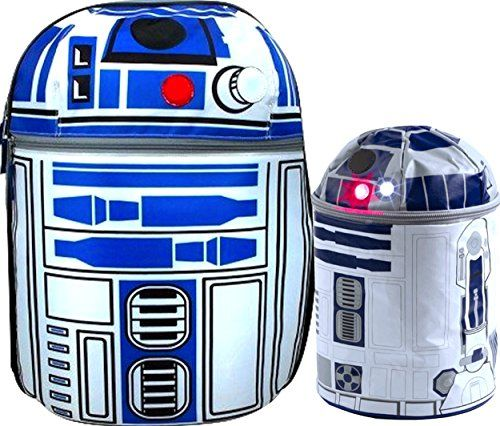 Star Wars R2d2 on Patrol 16 Backpack with Lights and Sounds Effects with Star Wars R2d2 Novelty Lunch Box Makes R2d2 Sounds Complete Star Wars Gift SET >>> Read more reviews of the product by visiting the link on the image.