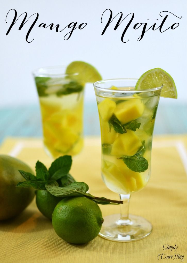 Marvelous Mango Mojito - escape to the tropics with this delicious mango and mint mojito. A simple recipe that is sure to wow for a party or dinner.