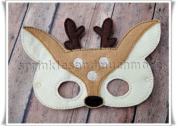 Deer Mask Woodland Creatures Pretend Play by SprinklesandMuchMore