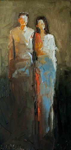 """All Through Life"" by Shelby McQuilkin Abstract figurative, oil painting, contemporary artwork,"