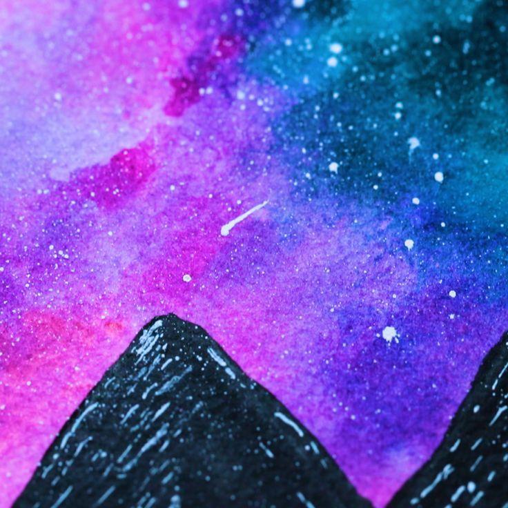 Aquarell Nachthimmel – #Aquarell #drawing #Nachthi…