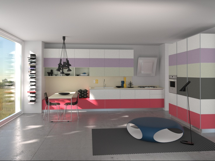 Tetrix by Micheal #Young #Scavolini #kitchen #Livingroom Colour Kit K3