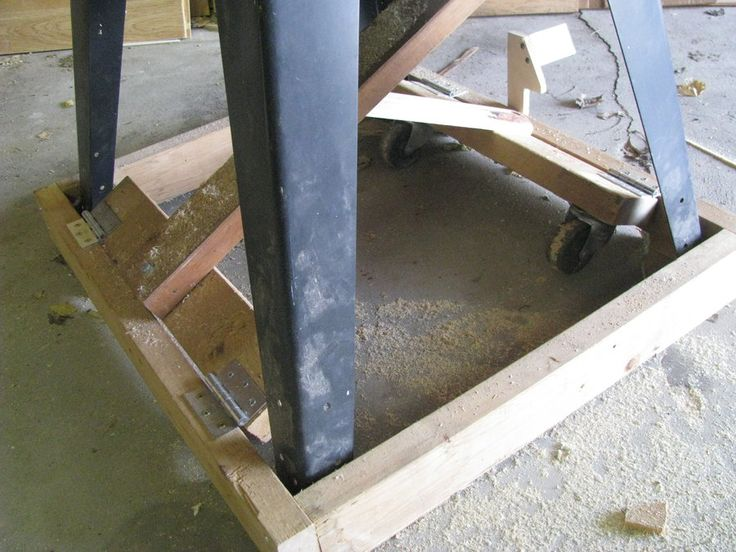 Table saw mobile base - DIY version - by Joel Wires @ LumberJocks.com ~ woodworking community