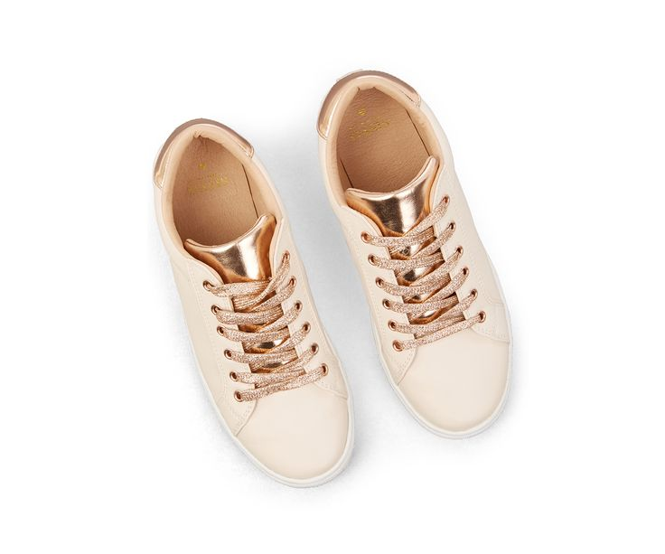 Oasis, NUDE AND METALLIC TRAINER Light Neutral