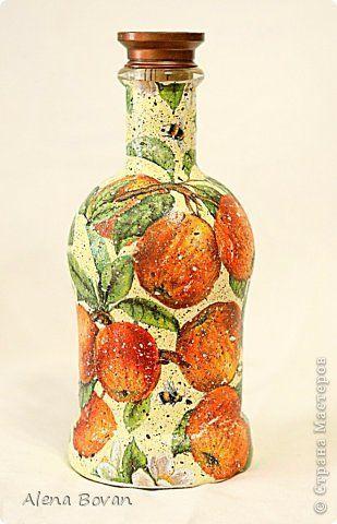 Декор предметов Декупаж ДЕКУПАЖ бутылочки новые и старые  Бутылки стеклянные Салфетки фото 1