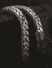 Scott Kay Equestrian Sterling Silver and 18kt White Gold Bracelet