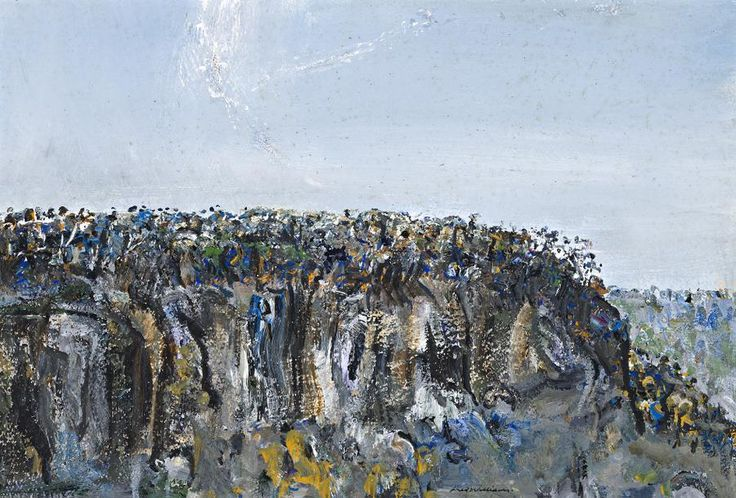 FRED WILLIAMS BLUFF AT SPRINGBROOK, 1971 37.0 x 54.5 cm gouache on paper on composition