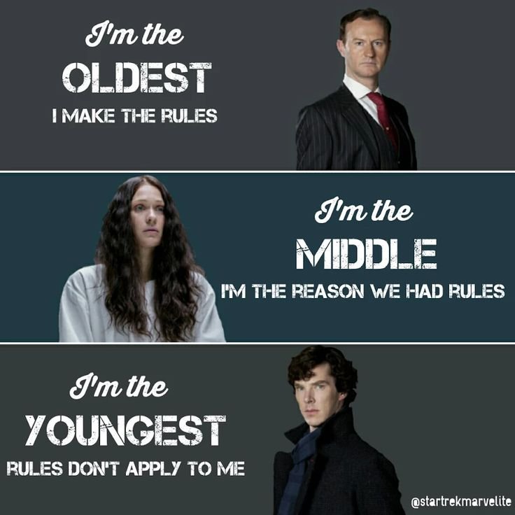 Nicely done, except that Sherlock is the middle child and Euros is the youngest, but the words still make sense either way<< no eurus is the middle one