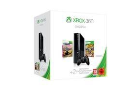 O Pacote Xbox 360 de 250 GB inclui uma consola Xbox 360 E, os jogos Forza Horizon e Borderlands 2 e um m�s de subscri��o Xbox Live Gold.