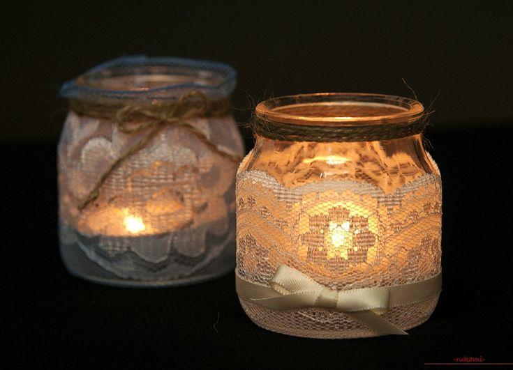 Поделки из стеклянных банок, сделанные своими руками для дизайна. Фото и советы.. Фото №1
