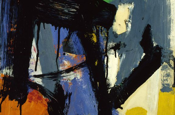 Franz Kline - Untitled, c. 1958, oil on collage on paper laid down on canvas