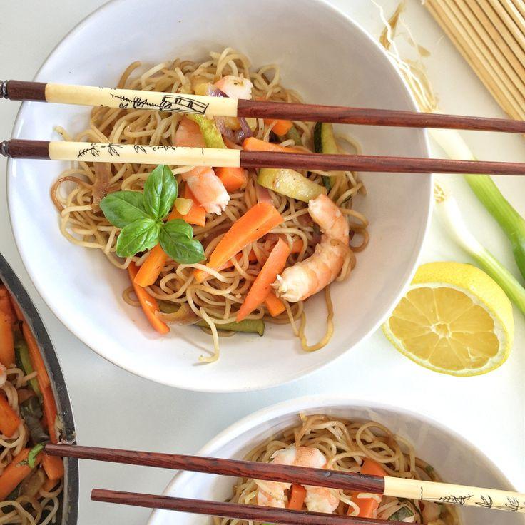 1000 id es propos de nouilles saut es aux crevettes sur - Comment cuisiner des nouilles chinoises ...