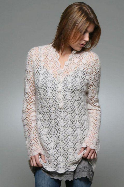 Crochet Top - Free Crochet Diagram - (jojo1.blogcu)