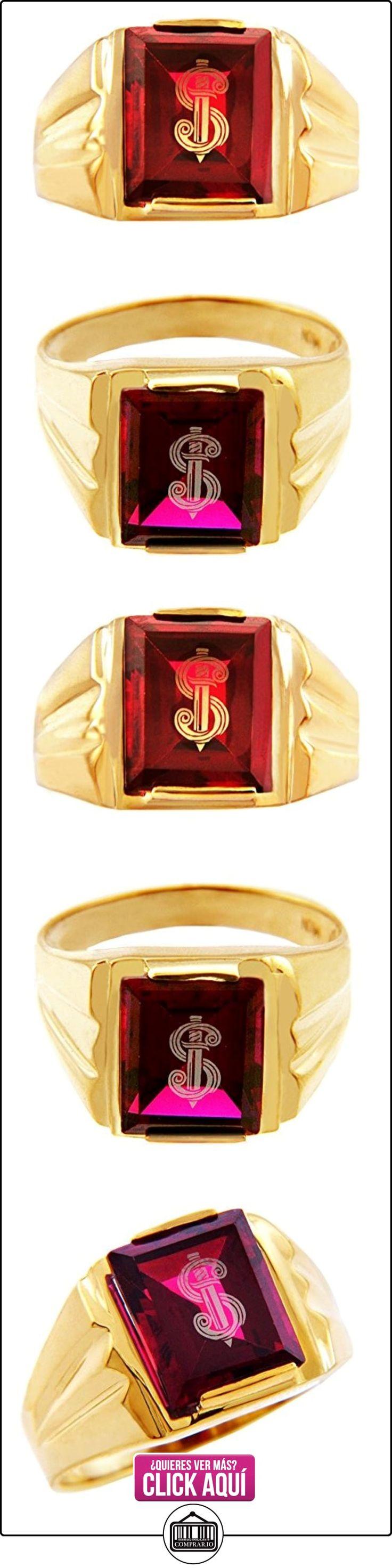 Pequeños Tesoros - Anillos Hombres Alianza De Boda 10 Kt Oro 471/1000 Oro Espada Granate Con Oro  ✿ Joyas para hombres especiales - lujo ✿ ▬► Ver oferta: https://comprar.io/goto/B012789L0C