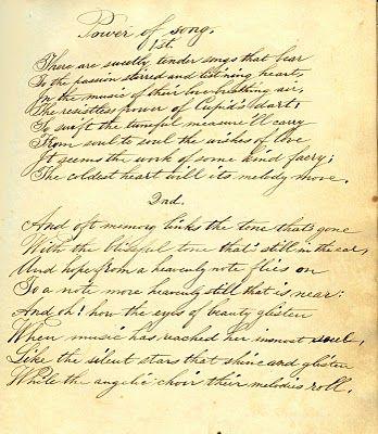 Gorgeous Vintage Ephemera - Handwritten Poem - The Graphics Fairy