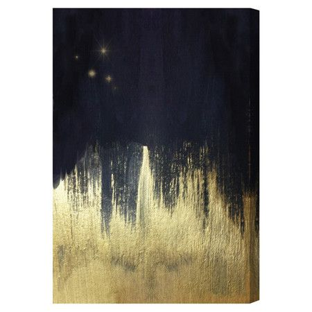 Hang this artful hand-stretched canvas above a seating group to create a stylish conversation space, or display it in your foyer for an eye-catching focal po...