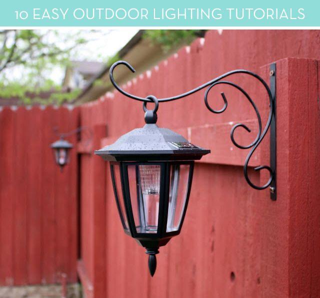 10 Projetos de Iluminação lindo DIY externas