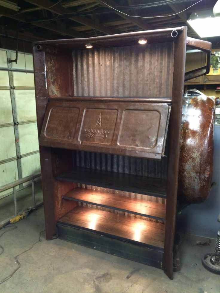 Under Seat Truck Storage >> 1940 ford box made into a entertainment center with hidden ...