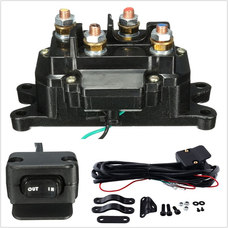 12V Solenoid Relay Contactor & Winch Rocker Thumb Dash Switch COMBO For ATV UTV