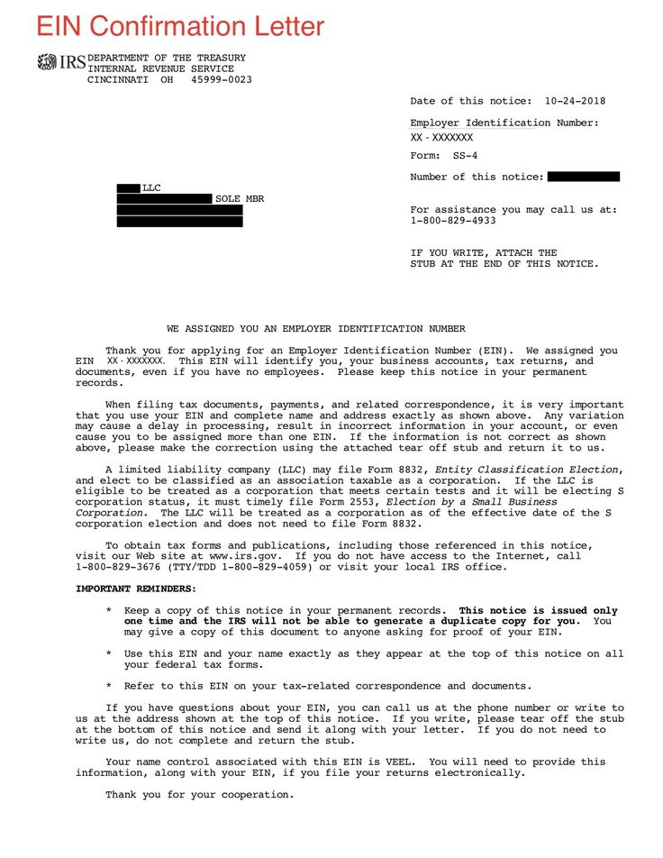 How To Obtain Irs Ein Confirmation Letter. Feels free to
