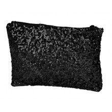 Glitter Clutch Black