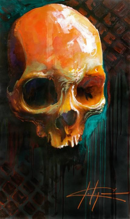 Nick Painting Skull.jpg (42973 bytes)