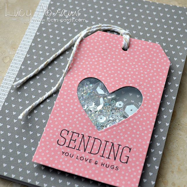 Simon Says Stamp - Better Together release - Heart Tag Sequin Card