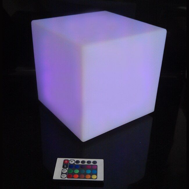 30cm LED Light Cube lumineux LED rechargeable cube illuminated cube chair free shipping 30pcs/lot