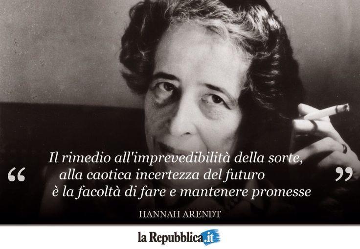 Oggi nasceva Hanna Arendt