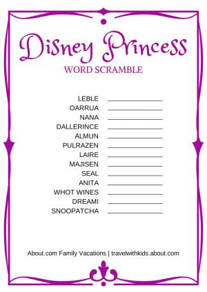 WordScramble_DisneyPrincess.png - Suzanne Rowan Kelleher