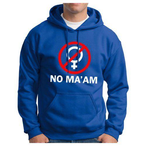 No Maam PREMIUM HOODIE Sweatshirt Funny Children With Al Maam Bundy Al Married Polk High TV PREMIUM HOODED Sweatshirt Large Royal