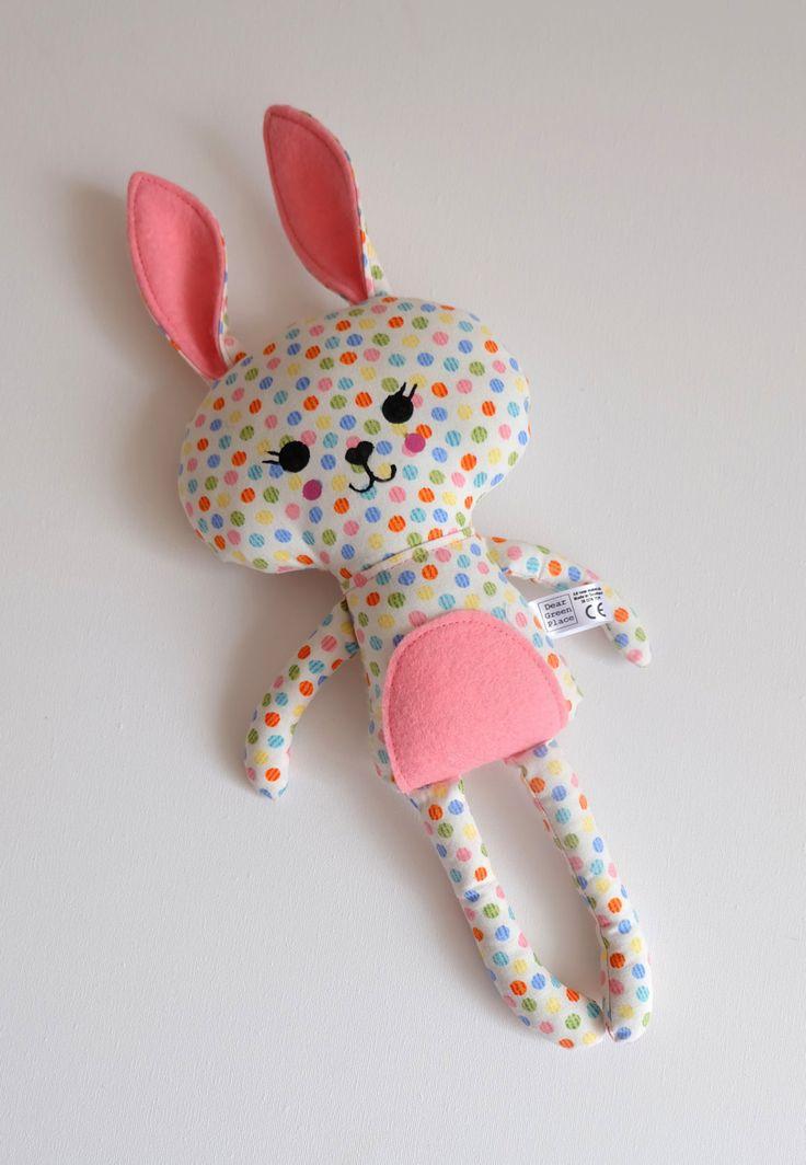 Little Rabbit Softie (Handmade Ragdoll Bunny) by DearGreenPlace on Etsy